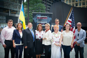 Flag Raising with Members of Kyiv Committe