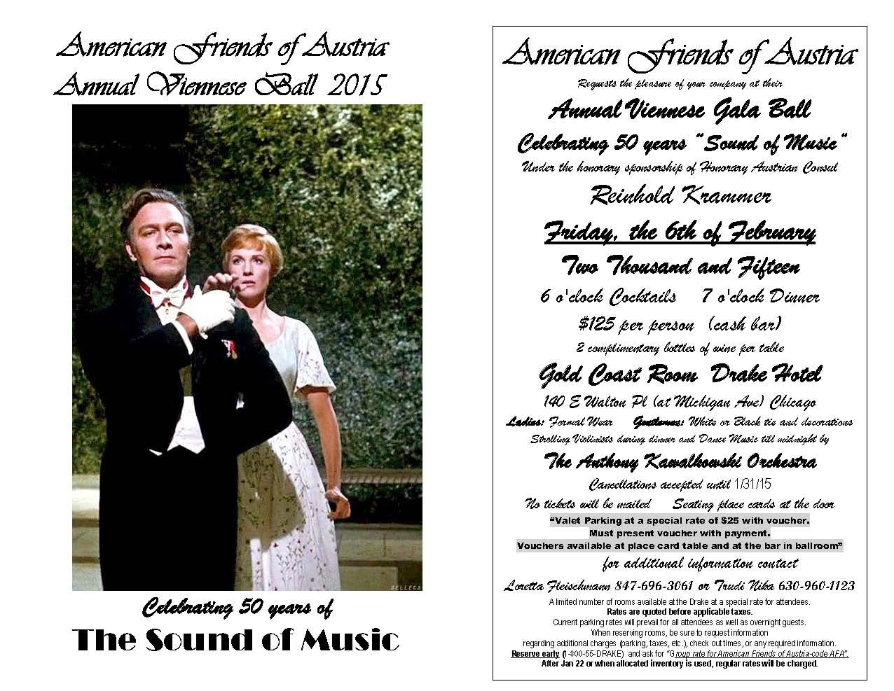 2015 AFA Viennese Ball - Invitation