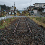 """Ofunato Line"", Kesennuma, Miyagi, November 30, 2014: The Ofunato Line is a railway running from an inland city, Ichinoseki, Iwate, to the coastal area where the tsunami severely damaged train tracks, stations and bridges. The Ofunato Line's traffic started back again on the inland segments of the railway; however, tracks on the coastal segments remain broken."