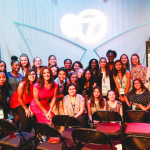 Participants at ABC 7 Chicago studios with anchor and reporter Cheryl Burton.