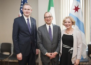 Minister Sean Kyne and Ms. Avril Horan and Chicago Deputy Mayor Steve Koch