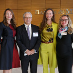 Laura Yergesheva (Executive Member of the Moscow Committee of CSCI); Alexis Rodzianko (President and CEO of the American Chamber of Commerce in Russia); Aleksandra Efimova (Co-Chair of the Moscow Committee of CSCI); and Anastasia Herasimovich (Baker & McKenzie)