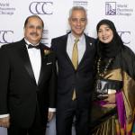 Mayor Rahm Emanuel and Consul General of the Republic of India Ausaf Sayeed and Farha Sayeed