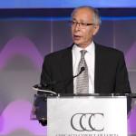 Chicago Sister Cities International Chairman Sam Scott addresses the 2016 Chicago Consular Corps Gala