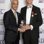 Mayor Rahm Emanuel with 2016 International Volunteer of the Year awardee Brett August