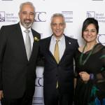 Mayor Rahm Emanuel and Consul General of the Islamic Republic of Pakistan Faisal Niaz Tirmizi (left) and Haniya Rais Tirmizi
